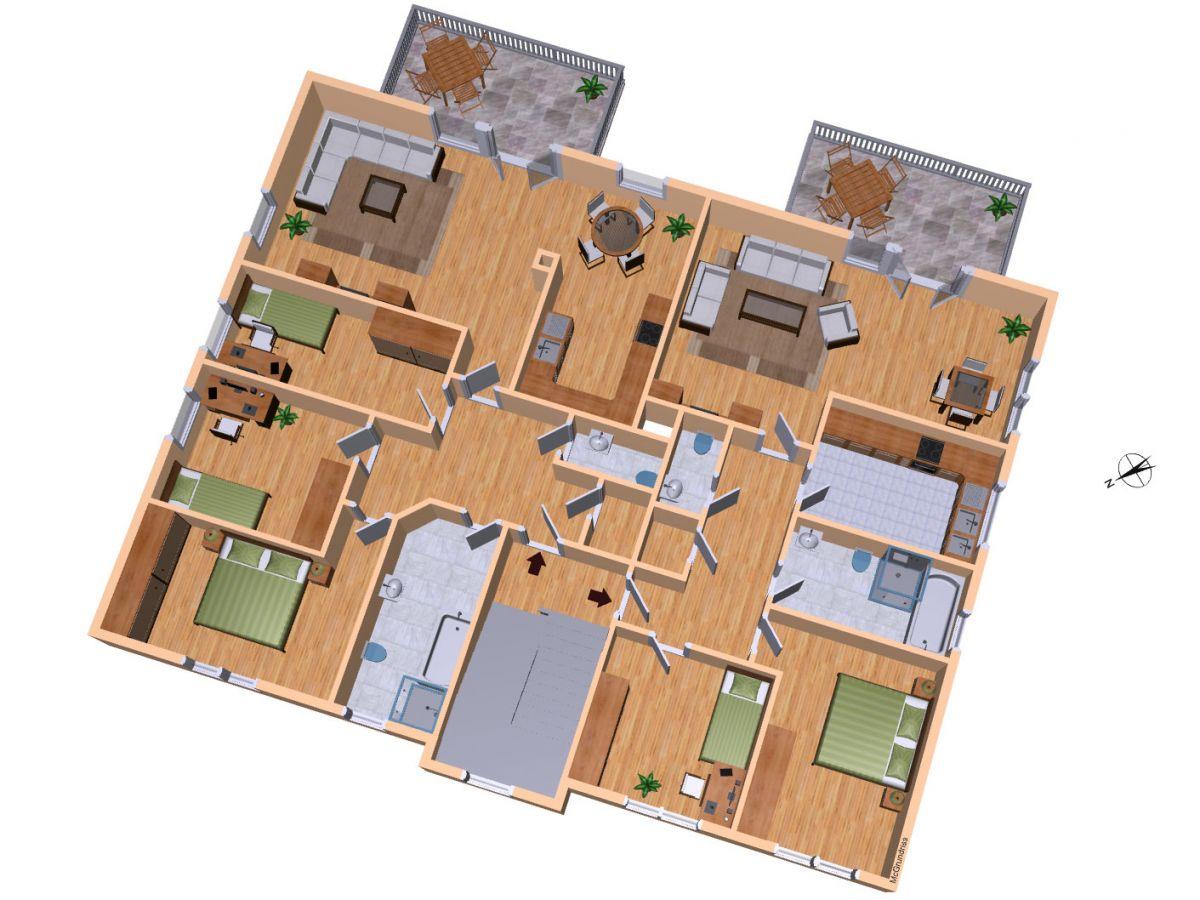 Grundriss wohnung 2 zimmer 3d  Zimmer Wohnung Grundriss: Studiosus 5 apartment wohnung in ...